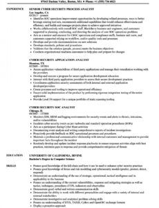 Free Cyber Security Resume Template Word