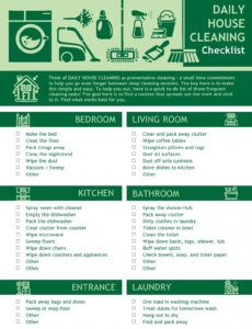 Free House Cleaning Checklist Template Pdf