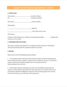 Free Notice Of Lease Non Renewal Template Word Example