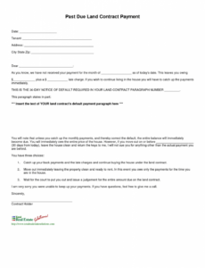 Notice Of Late Rent Template Pdf