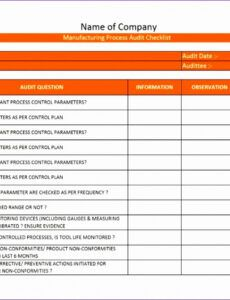 Printable Financial Audit Checklist Template  Example