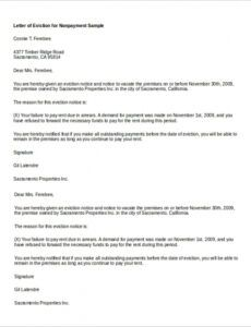 Printable Immediate Eviction Notice Template Doc Example