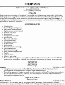 Printable Personal Trainer Resume Template Excel Example