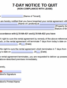 Professional Louisiana Eviction Notice Template