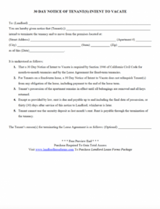 Best Notice Of Moving Out To Landlord Template Pdf Example