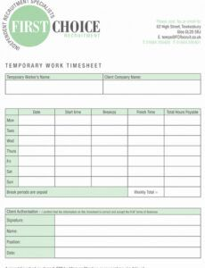 Costum Home Care Timesheet Template Excel