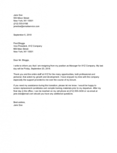 Professional 2 Weeks Notice Email Template Pdf
