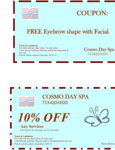 Professional Day Off Coupon Template  Sample