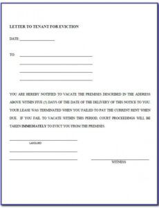 Professional Indiana Eviction Notice Template