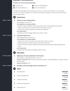 Professional Job Resume Template For College Student