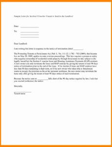 Professional Notice Of Moving Out To Landlord Template Excel