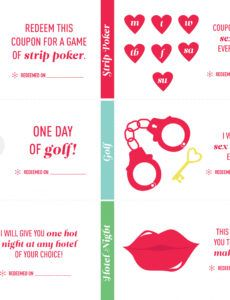 Best Coupon Book For Boyfriend Template Word Example