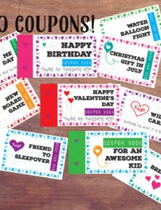 Best Friend Coupon Book Template Pdf Sample