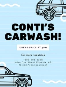 Costum Car Wash Coupon Template  Example