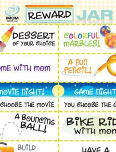 Editable Reward Coupon Template For Kids Word Example