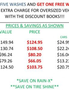 Free Car Wash Coupon Template Excel