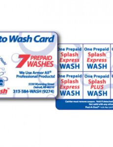 Free Car Wash Coupon Template Word