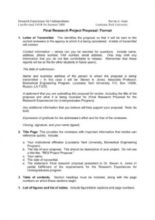 Free Concept Note Template For Research Proposal Excel Sample