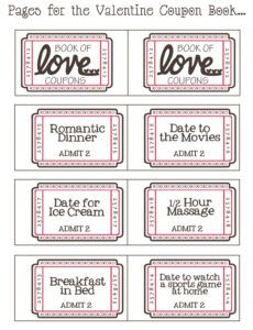 Free Coupon Book For Boyfriend Template Pdf