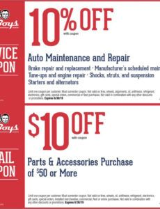 Free Oil Change Coupon Template Excel Example