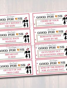 Free Valentines Day Coupon Book Template  Sample