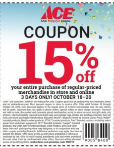 Printable 15 Off Coupon Template Excel Sample