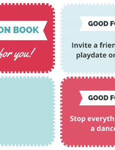 Professional Best Friend Coupon Book Template Pdf Sample