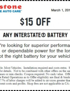 Professional Oil Change Coupon Template Doc Sample