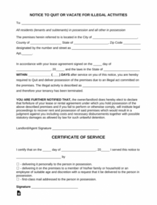 Editable Funny Eviction Notice Template Doc