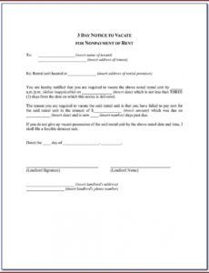 Professional 72 Hour Eviction Notice Template Word