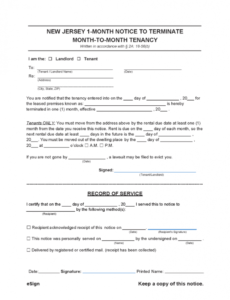 Professional Nj Eviction Notice Template Pdf Example