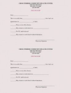 editable fake doctors note templates for work or school pediatric doctors note template pdf