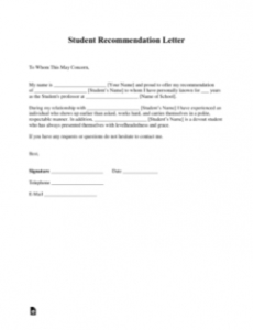 printable free student recommendation letter template  with samples release of promissory note template excel