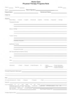 printable home care physical therapy progress note template download home health nursing note template