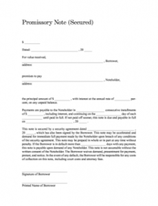 printable promissory note  fill online printable fillable blank automobile promissory note template excel
