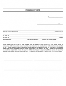 printable release of promissory note template  fill online blank promissory note template