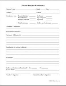 sample of form parentteacher conference  abcteach note taking template for nursing students pdf