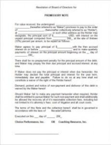 sample of sample promissory note  template business blank promissory note template excel