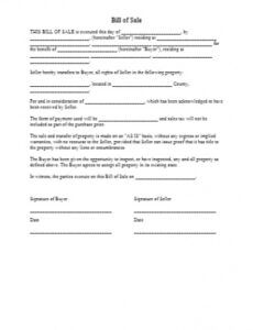 texas bill of sale template free download  cocosign generic promissory note template doc
